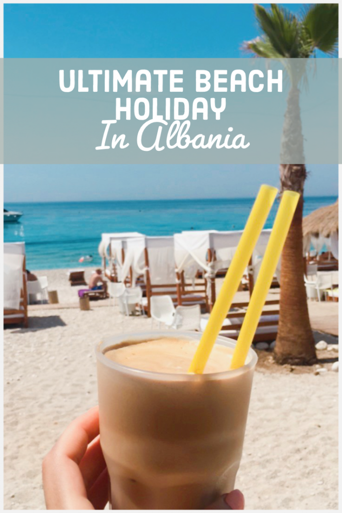summer albania beach coffee