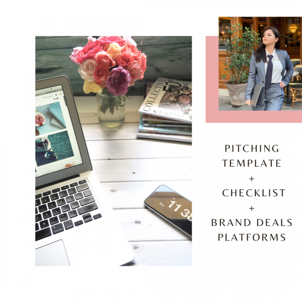 pitch template to apply to brand deals for influencers and micro influencers